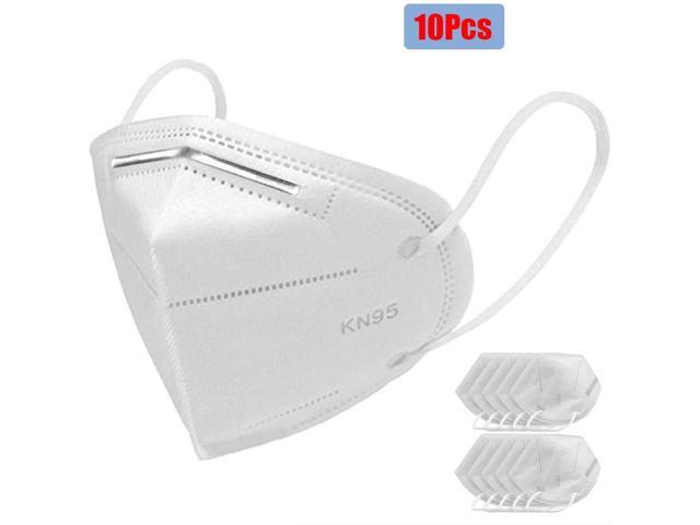 10 Pieces 5-Layer Face Mask / Anti-Fog Prevent Mouth Respirator Windproof PM 2.5