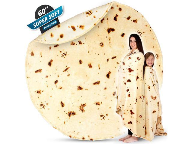 Zulay (60 Inch) Giant Burrito Blanket Double Sided - Novelty Big - Sale: $39.99 USD