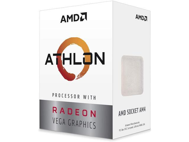 AMD Athlon 3000G 3.5GHz Dual-Core Unlocked OC AM4 Processor with Vega 3 Graphics