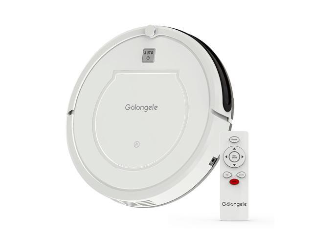 Golongele Self-Charging Robot Vacuum and mop, Super-Thin, 1400Pa Suction, Multiple Cleaning Modes, Quiet Smart and Powerful robovac Cleaner for Dog Hair Cleaning on Tile Hardwood Floor and Carpet