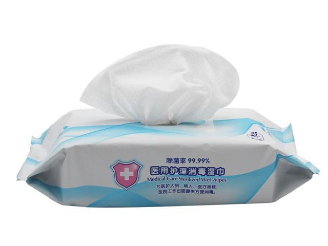 Medical Grade Disinfectant Wet Paper Towel, Portable Disinfectant, Nursing Wet Towel, Disinfection, Sterilization, Bacteriostasis, Cleaning, Kill 99.9% of Harmful Substances, 25 pcs / Pack