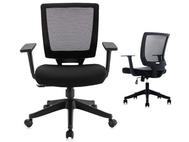 Qwork Ergonomic Mesh Task Chair Adjustable Height & Tilt for - Sale: $99.99 USD (9% off)