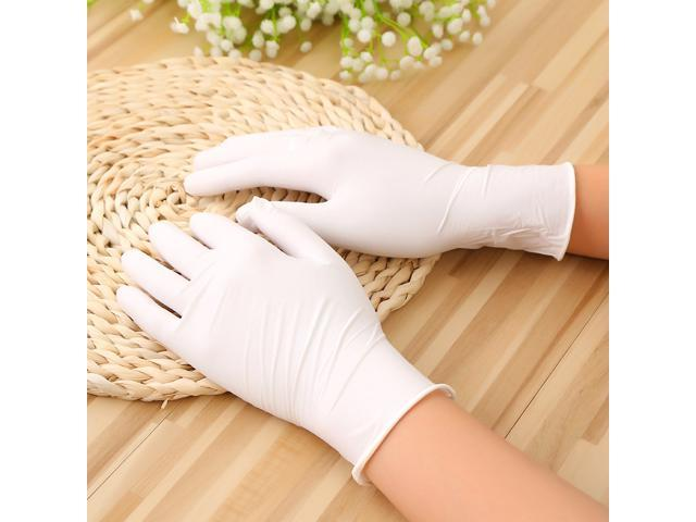Anti-allergy Gloves Disposable, Non-Sterilized, Medium Size, White, 100 pcs