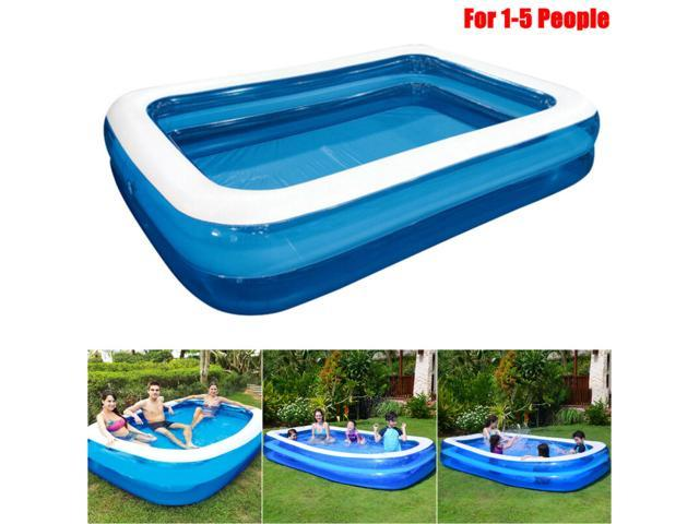 Large Inflatable Swimming Pool Center Lounge Family Kids Water Play Fun Backyard Inflatable Paddling Pools Family Kids Swimming Pool Outdoor Garden Summer Holiday