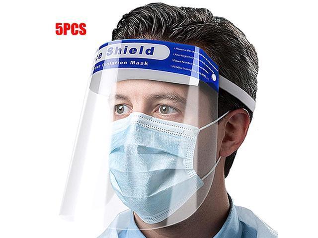 5-Pack Wendol Safety Shield Eyes & Face Windproof Dustproof Cap
