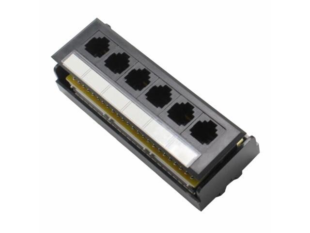 Yankok  Cat6 6 Port Replace Patch Panel  Unshielded With Coded T568a  B Ethernet Wiring Diagram