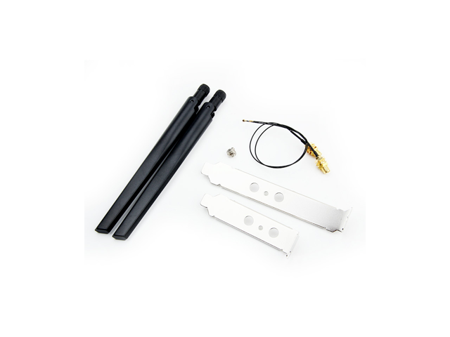 Dual band 5dbi Wireless WiFi Antenna RP-SMA + MHF4/IPEX Pigtail - Sale: $9.99 USD