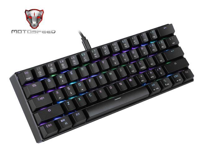 MOTOSPEED CK61 RGB Mechanical Gaming Keyboard OUTMU Blue Switch - Sale: $45.99 USD
