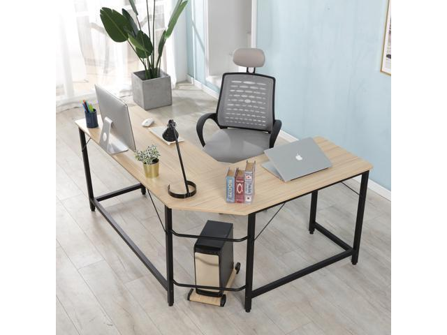Computer Desk, L Shaped Corner Computer Desk Gaming Desk Office - Sale: $159.99 USD