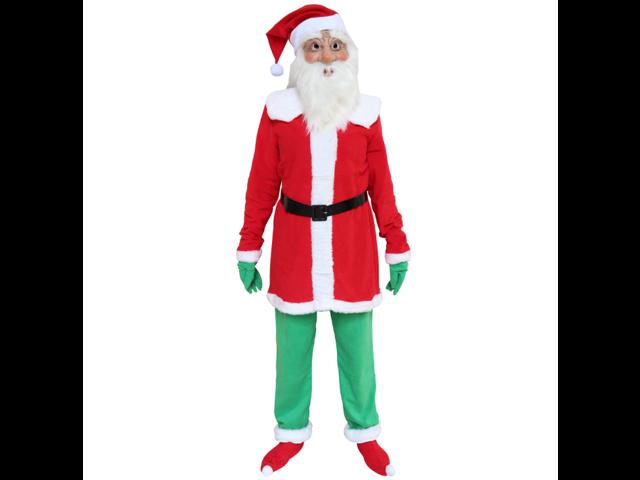 Santa Claus Set Christmas Gifts Old Man Mask Holiday Latex Mask - Sale: $63.99 USD