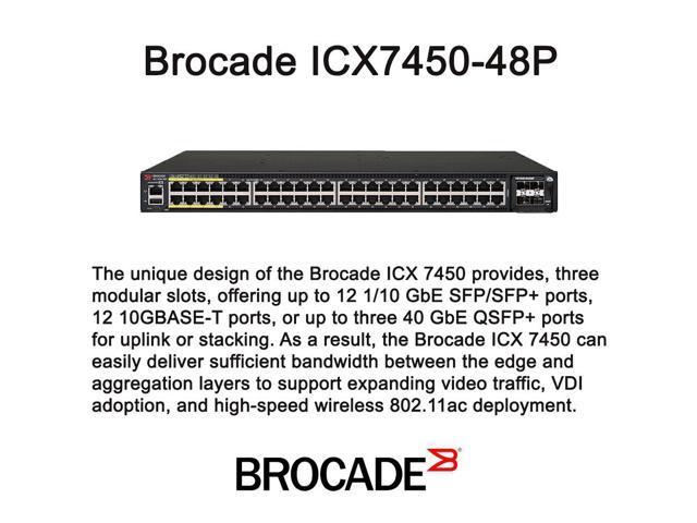 Brocade ICX7450-48P Switch - Newegg com