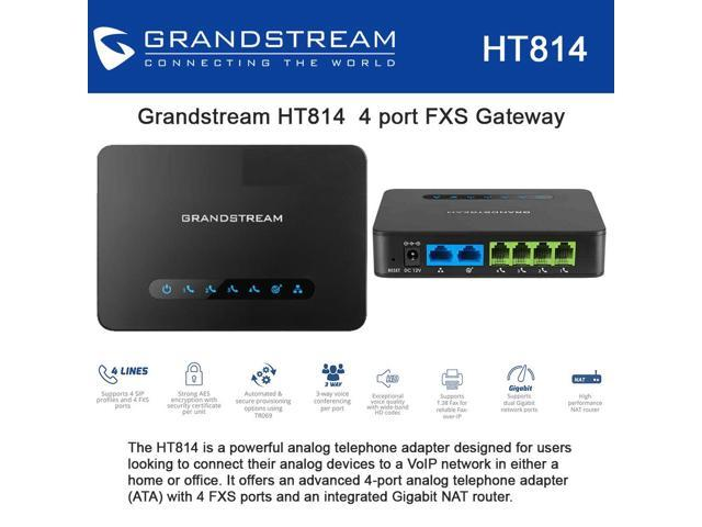Grandstream HT814 4 port FXS Gateway with Gigabit NAT Router - Newegg ca