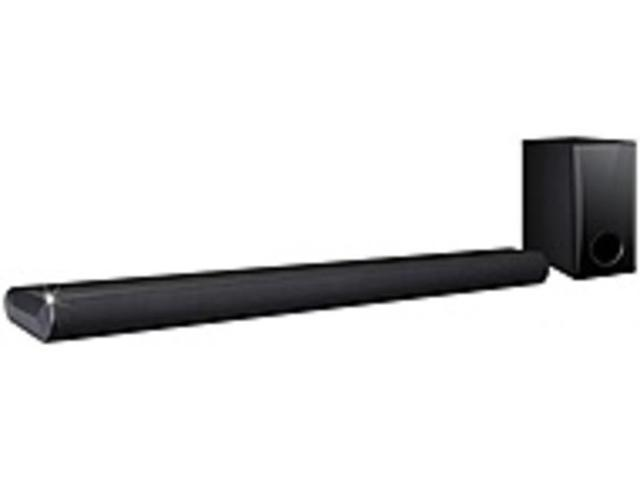 Refurbished: LG LAS350B 2 1 Channel Sound Bar with Subwoofer - 120 W RMS -  DTS, Surround Sound, Dolby Digital - Bluetooth 4 0 - Digital Audio Optical