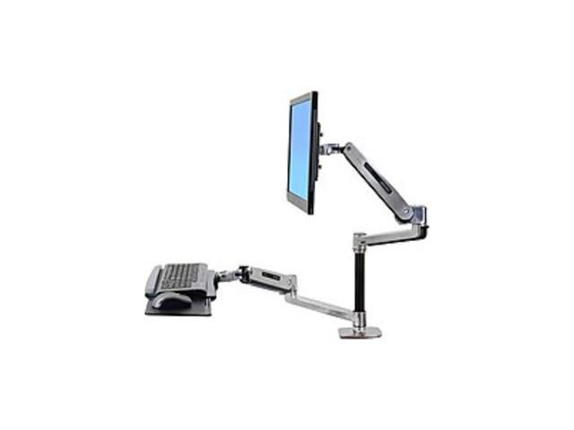 Ergotron WorkFit LX Desk Mount For Flat Panel Monitor, Keyboard, Mouse   42