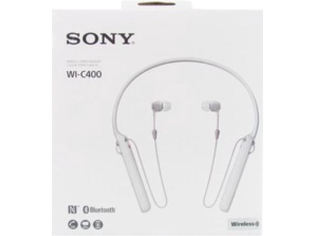 6ced98d0714 Refurbished: Sony WI-C400/W Wireless Bluetooth Behind-The-Neck In-Ear  Headphones with Omnidirectional Microphone - White - Newegg.com
