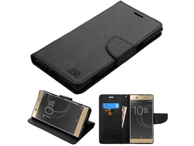 finest selection 147a3 eb37a For Sony Ericsson Xperia XZ Premium Black Pattern/Black Liner Flip Wallet  Case - Newegg.com