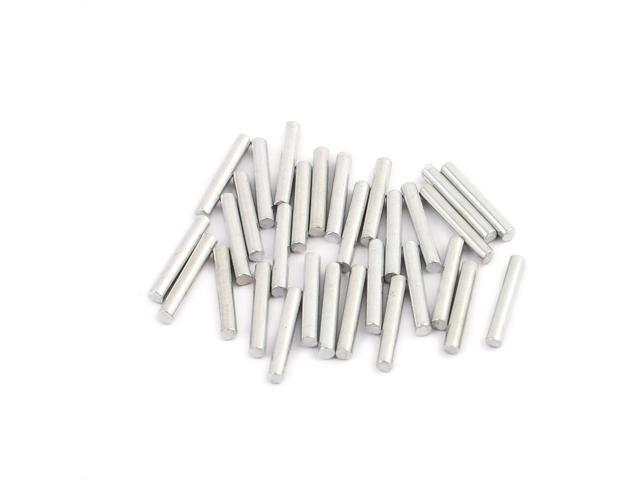 30pcs round shaft solid steel rods axles 2mm x 13mm silver
