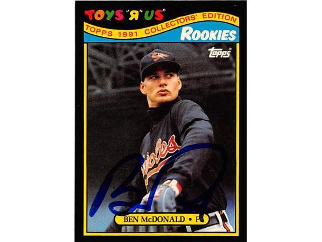 Autograph Warehouse 247155 Ben Mcdonald Autographed Baseball Card Baltimore Orioles 1991 Topps Toys R Us Rookies No 17 Neweggcom