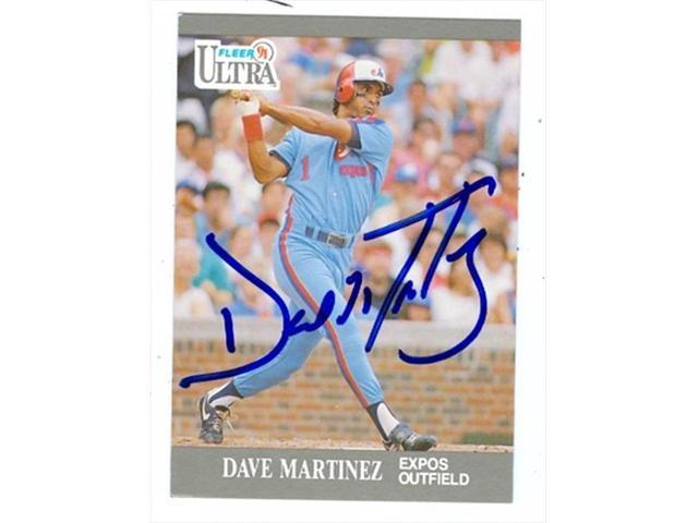 Autograph Warehouse 39062 Dave Martinez Autographed Baseball Card Montreal Expos 1991 Fleer Ultra No 205 Neweggcom