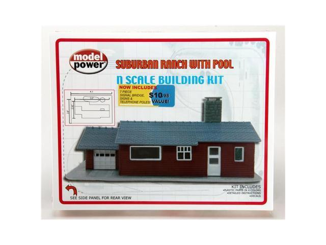 Model Building Tools N KIT Ranch House by Model Power Hobbies