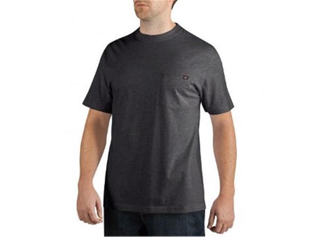 c0cfb17308e8 Dickies WS436BK XT Mens Big-Tall Short Sleeve Pocket Black Tee Shirt, Extra  Tall