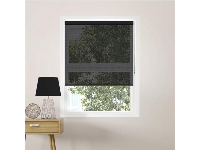 Chicology RSCMB3072 30 x 72 in  Continuous Loop Beaded Chain Roller Shades  for Window Blind Curtain Drape, Midnight Black - Solar - Newegg com