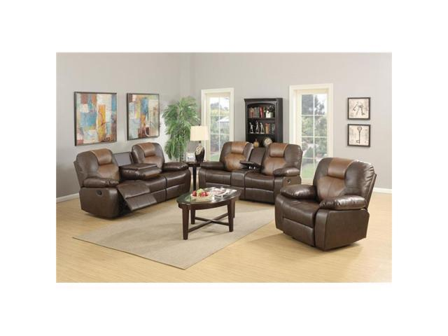Tremendous Myco Furniture 1100 L Jordana Two Tone Bonded Leather Rocker Recliner Loveseat Brown Newegg Com Customarchery Wood Chair Design Ideas Customarcherynet