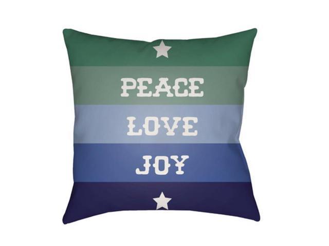 Surya Hdy078 2020 Peace Love Joy Medium Throw Pillow 20 X