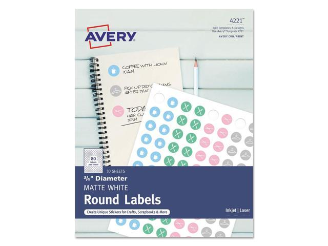 image relating to Avery Printable Stickers named Avery Printable Self-Adhesive Long term 3/4\