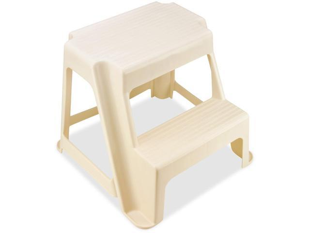 Rubbermaid 42221 Two Step Stool 2 Step Bisque 300 Lb