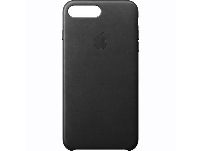 buy online 09e23 5a3dc Original Apple iPhone 7 Plus Leather Case - Black - Newegg.com