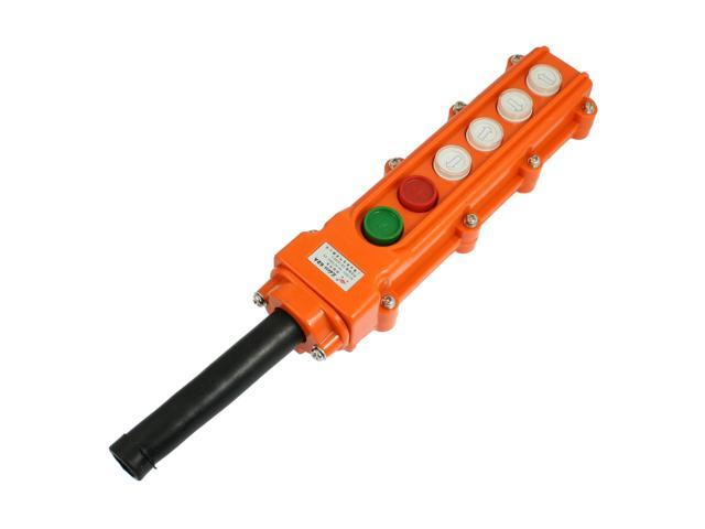 Global Bargains Global Bargains Hoist Crane Parts Momentary 4-Way Push  Button Switch w Jointing Sleeve - Newegg com