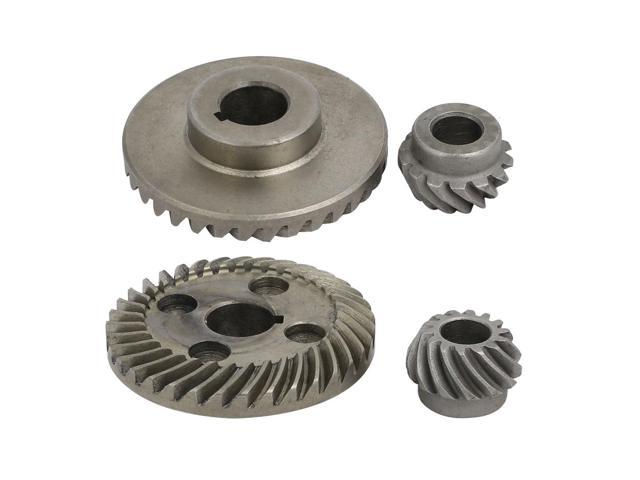 Unique Bargains 2pcs Metal Electric Angle Grinder Spiral Bevel Gear Gray  for Hitachi 100 - Newegg com