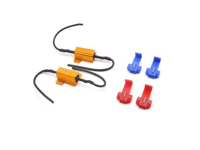2Pcs 25W 6RJ LED Headlight Canbus Decoder No Error Free Load Resistor for  Car - Newegg com