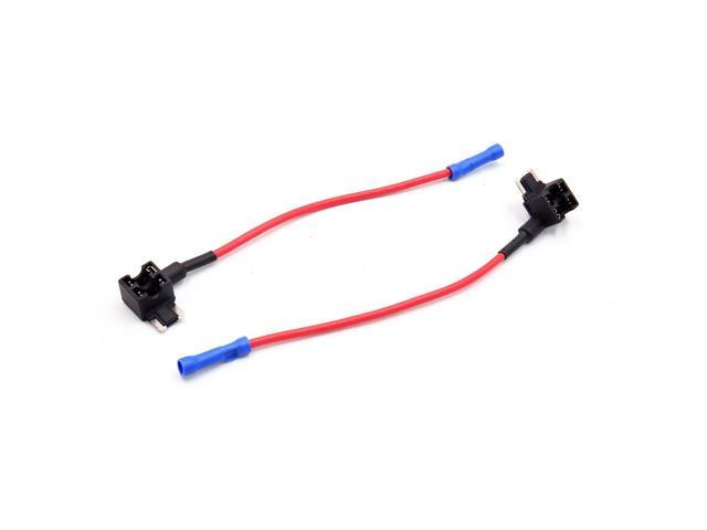 2 pcs diy car vehicle add a circuit atm dual blade fuse