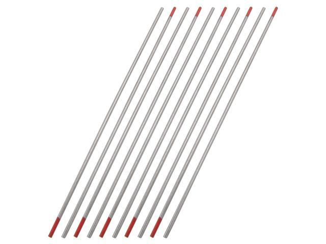 10 pcs 2mm diameter 150mm length red tungsten electrodes for welding