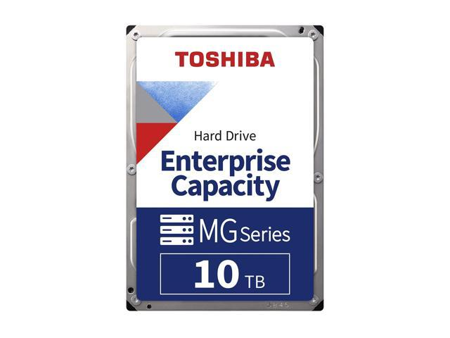 Toshiba 10TB Enterprise HDD 7200 RPM 512e SATA 6.0Gb/s 256MB Cache 3.5inch - MG06ACA10TE