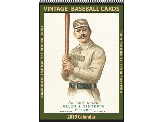 2019 Baseball Cards Vintage Wall Calendar By Asgard Press Neweggcom