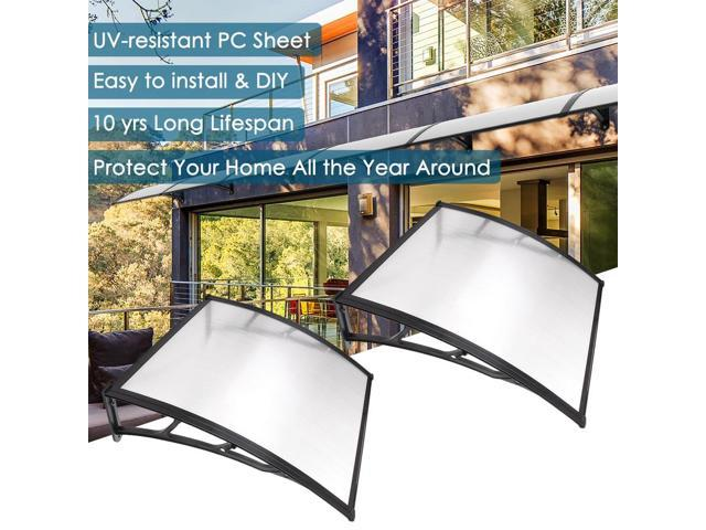 2 Sets 39x39  Clear Door Window Awning Canopy One-piece Polycarbonate Hollow Sheet Patio  sc 1 st  Newegg.com & 2 Sets 39x39