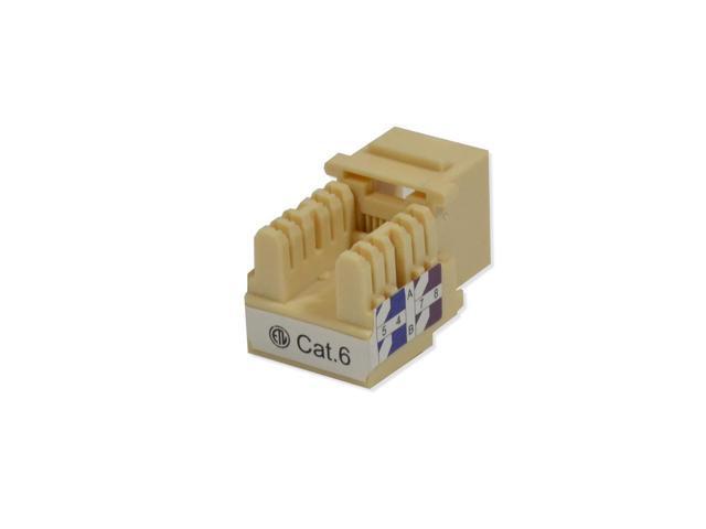 10 pack lot Keystone Jack Cat6 Ivory Network Ethernet 110 Punchdown 8P8C Cat 6