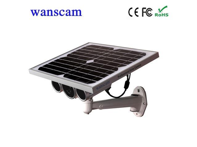 Wanscam HD 1080P 2.0MP Solar Power Panel WiFi Battery IP Camera P2P Onvif IR-CUT