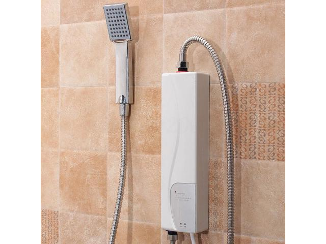 220v Instant Electric Tankless Hot Water Heater Shower System Sink Tap  Faucet