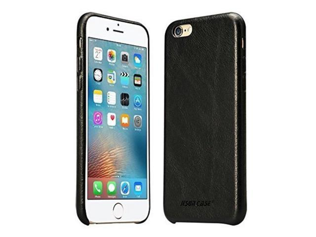 sale retailer 8a7d9 a0358 Jisoncase iPhone 6s Case Genuine Leather Hard Back Case Slim Fit Protective  Cover Snap on Case for iPhone 6/6s [Black]-JS-I6S-02A10 - Newegg.com