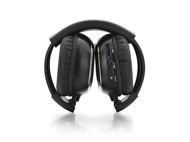 24a0931a8f0 Andoer Two Channel Folding Universal Rear Entertainment System Infrared Headphones  Wireless IR DVD Player Head Phones