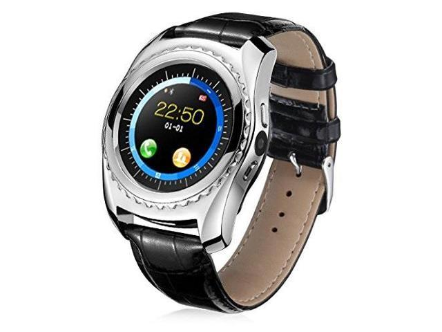 boya smart watch with sim card slot memory card with heart rate blood  pressure oxygen monitor touch screen round face pedometer for outdoor sport