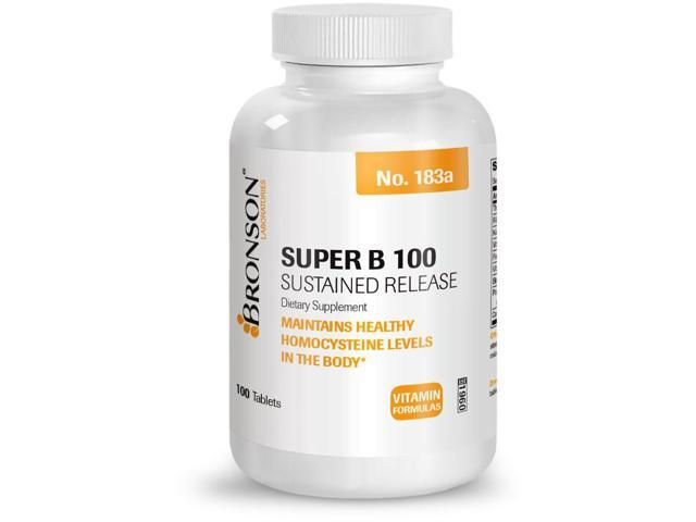 Bronson High Potency Super Vitamin B 100 Complex Sustained