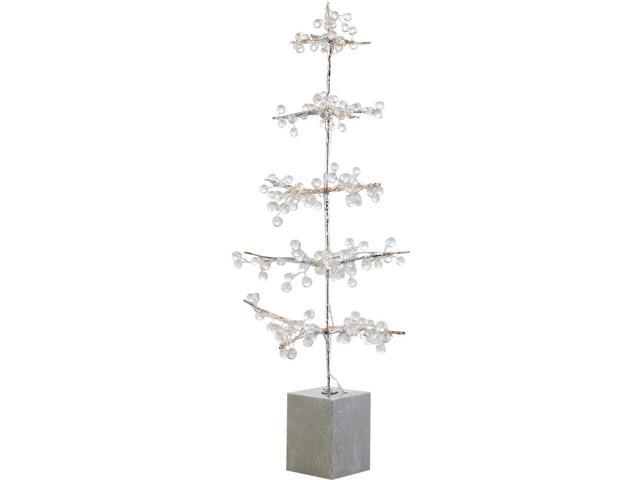 2' Glamour Time Pre-Lit Potted Ice Beaded Artificial
