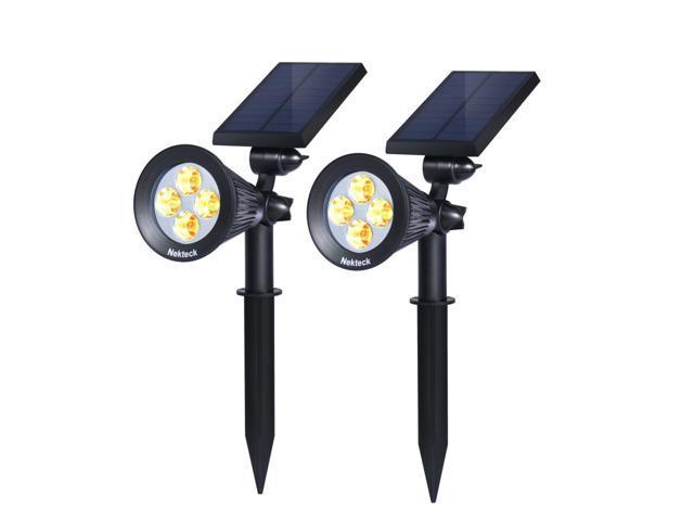 381fc7c9d3df Nekteck Solar Lights Outdoor, 2-in-1 Solar Spotlights Powered 4 LED  Adjustable