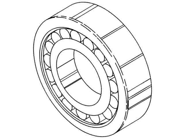 lower main bearing  roller-front - sa30 and sa36