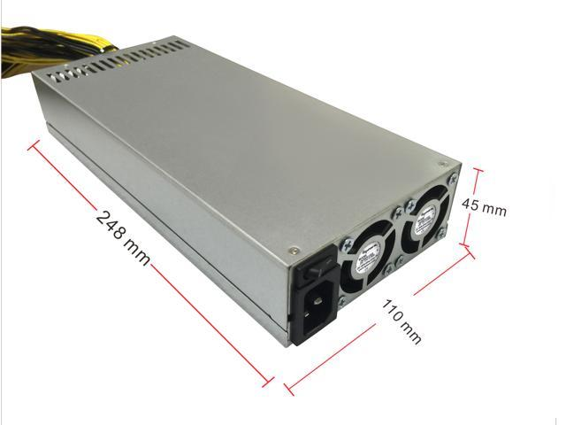 bGears b-PowerMiner 2400W Antminer Power Supply with 10 x PCIe 6+2 connectors and 90+ Efficiency